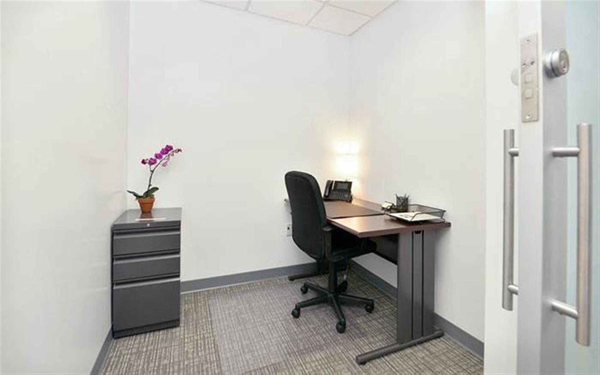 NYC Office Suites 733 (3rd Ave. & 45th) - Sliding Glass Office 1572 (2 Desk)