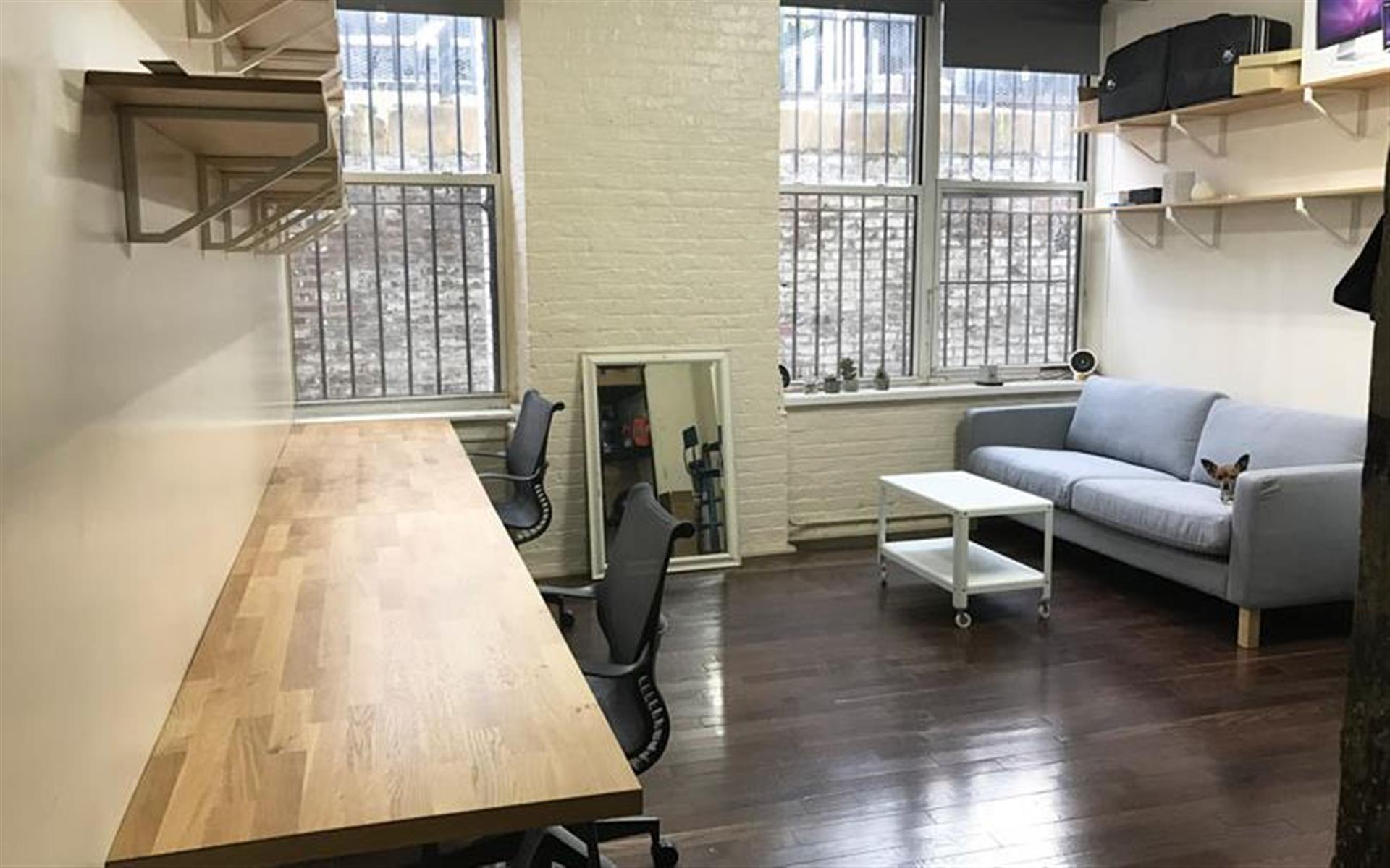 Dedicated Desk - South Williamsburg - Studio 5, Office with Large Windows