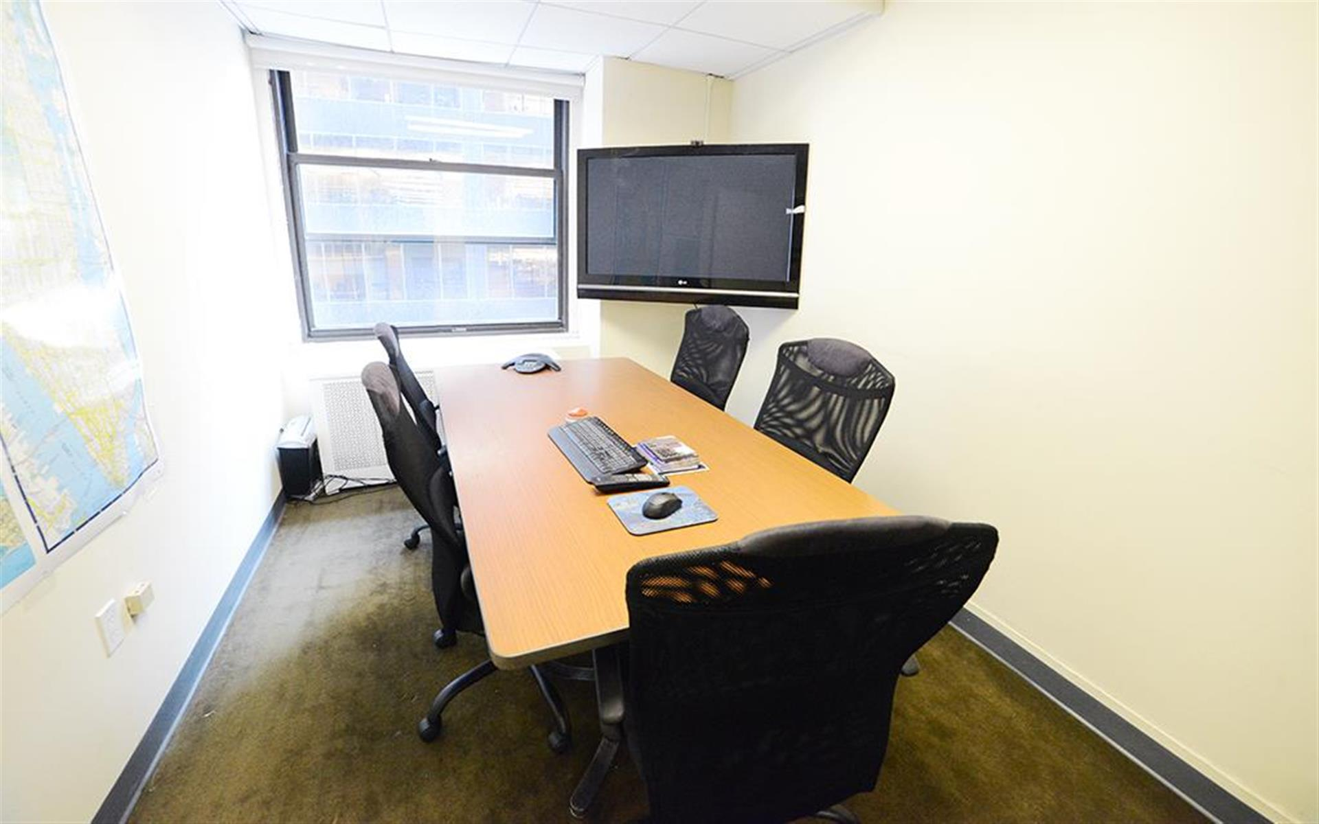 A&I Broadway Realty - 150 Broadway, NYC - Conference Room w/ Monitor