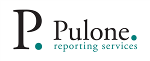 Logo of Pulone & Stromberg, Inc., dba Pulone Reporting Services