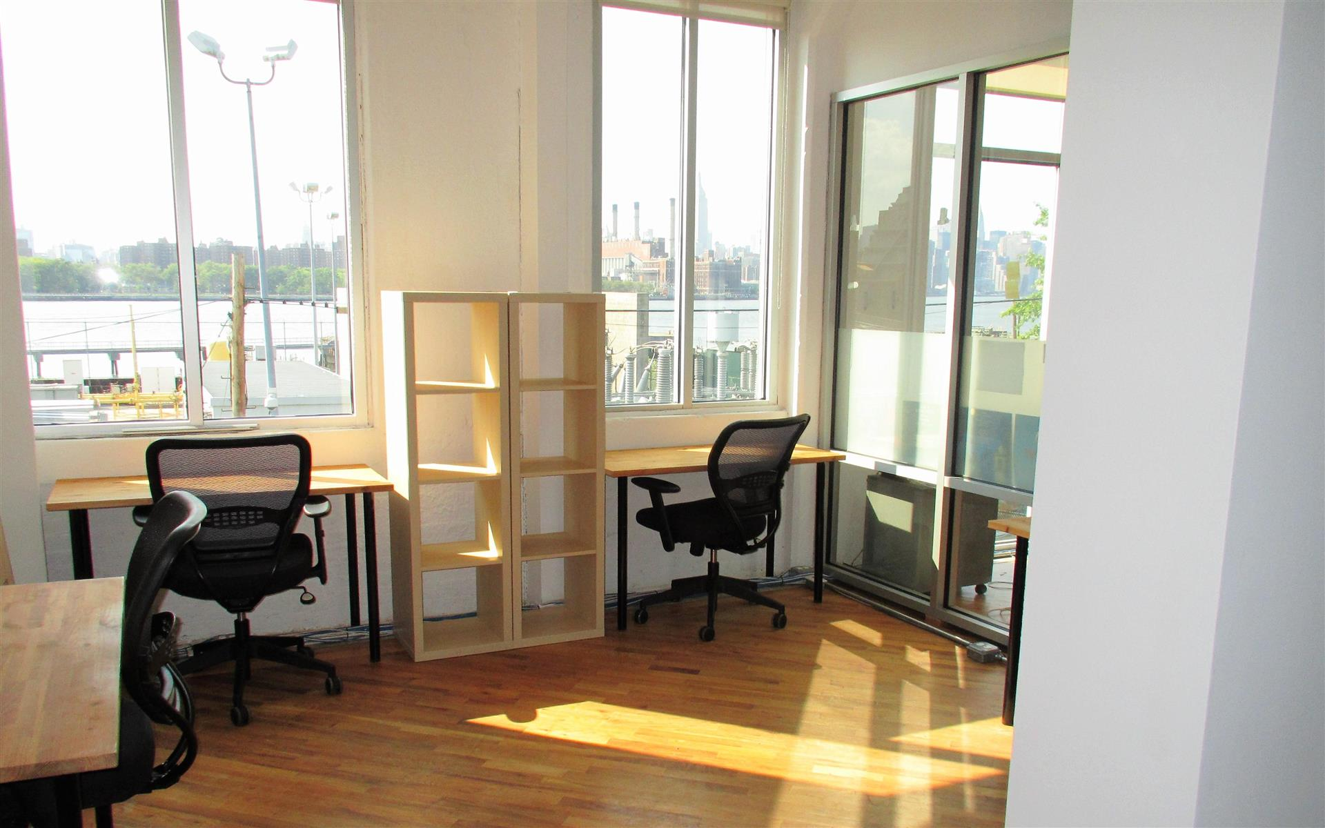 Green Desk - 240 Kent Ave - 4 Desk Office with Natural Lighting