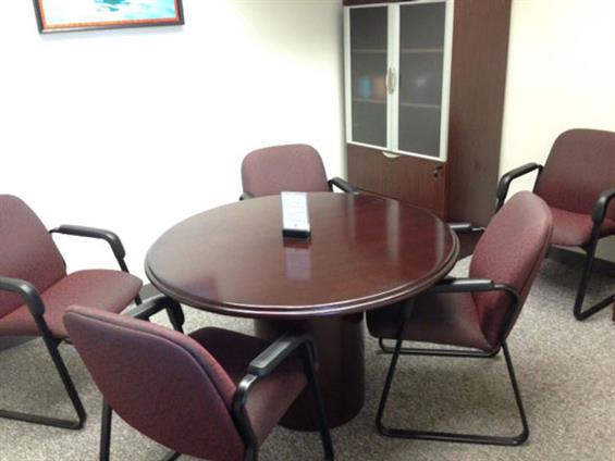 Lake Cook Reporting and Videoconferencing - Round Table Conference Room