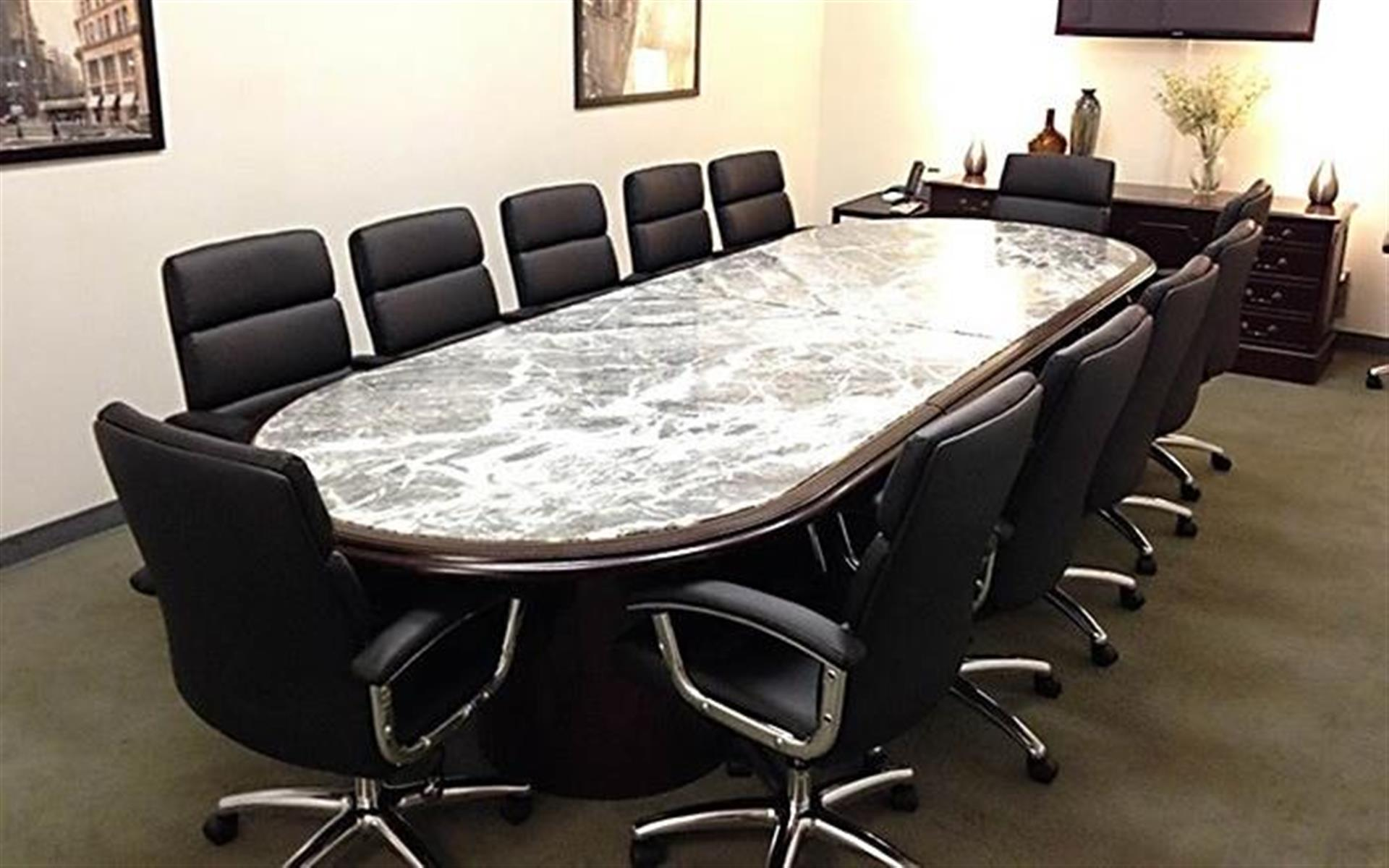 NYC Office Suites 708 (3rd Ave. & 44th) - Executive Boardroom 708 (Cap. 18)