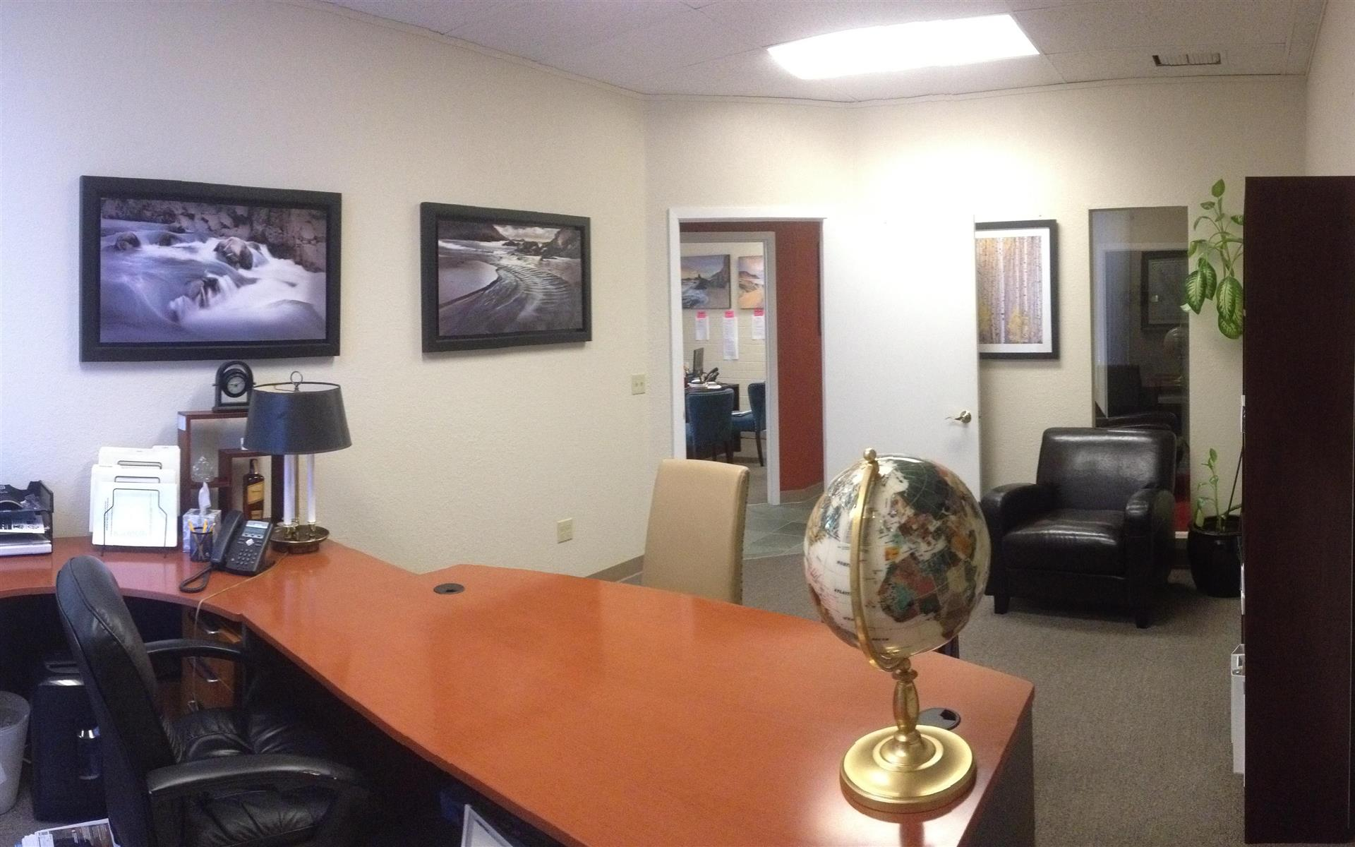 Real Wealth Network - Office #3: Sunny executive office