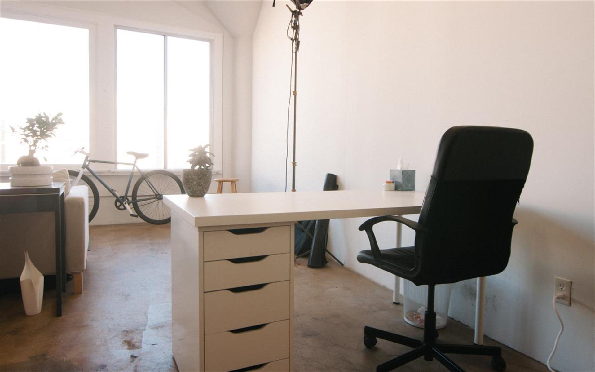 Camp Rimpau Studio - Window Facing Desk
