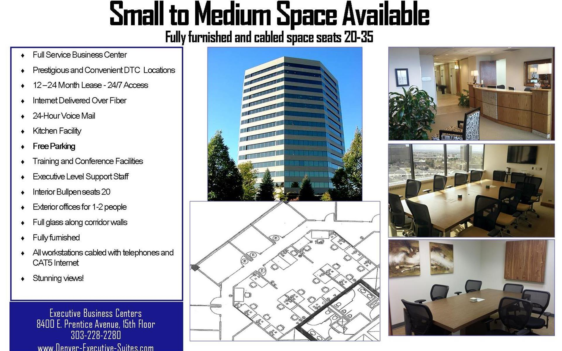 Executive Business Centers Denver Tech Center - Large Team Space for 20